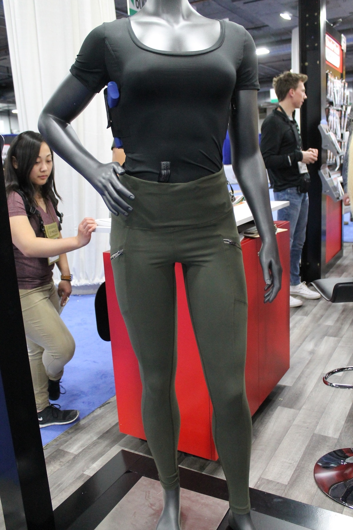UnderTech UnderCover returned this year with another set of Concealed Carry leggings. These come in multiple colors, are full length and feature zipper pockets. (Photo: Jacki Billings)