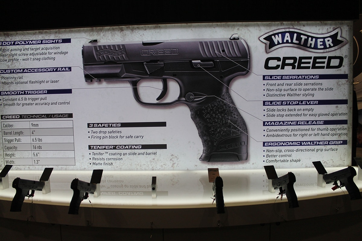 Walther's newest firearm, the Creed, comes in at the sub-$400 mark. (Photo: Jacki Billings)