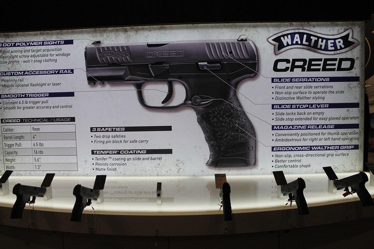 Walther Arms boasts Creed's ergonomics, sub-$400 price