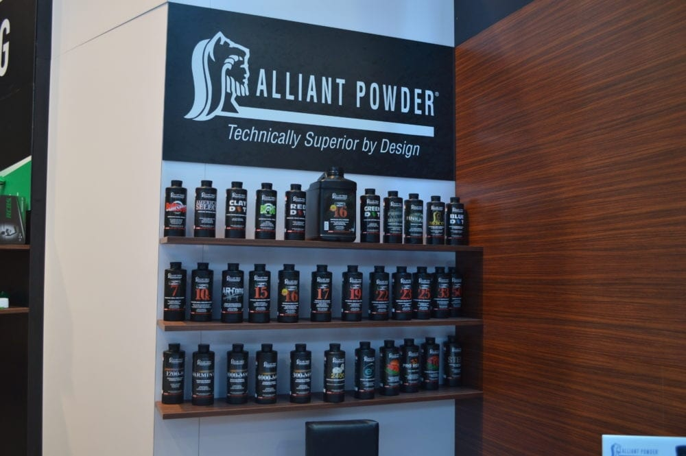 Alliant Powders displayed two new powders for 2017: (Photo: Kristin Alberts)