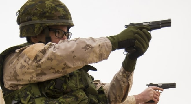 The Canadian military has used an early version of the Browning Hi-Power for over 70 years, but that could be changing (Photo: Canadian Forces Combat Camera)