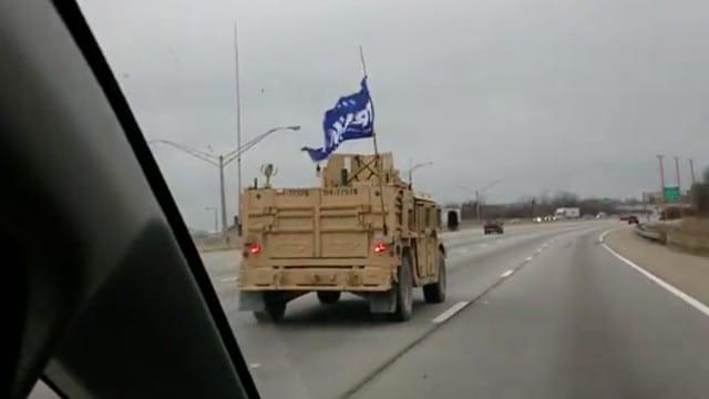 Trump flag convoy
