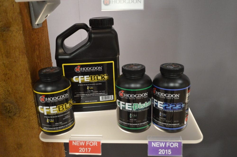 Hodgdon's biggest introduction for 2017 is the CFE Black, a spherical powder designed specifically for the .300 Blackout. (Photo: Kristin Alberts)
