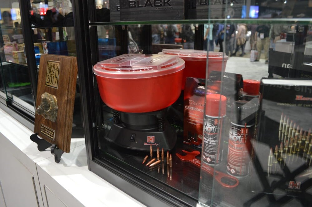 Hornady introduced the new M1 Case Tumbler, which retails for $75 (Photo: Kristin Alberts)