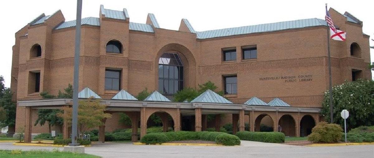 The Huntsville Madison County Library in Huntsville, AL (Photo: City Data)