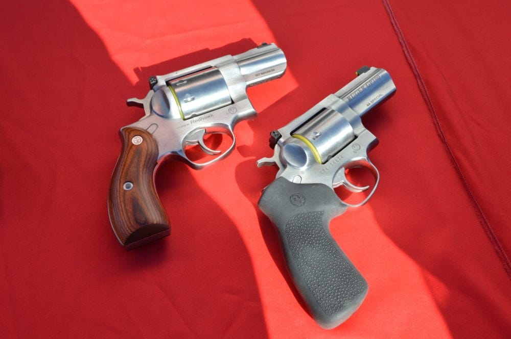 Ruger's new revolver duo: the Redhawk .357 and GP100 .44spl. (Photo: Kristin Alberts)