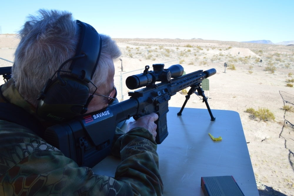 Firing Savage's new MSR-10 chambered in .308 made 750+ yard shots a snap. (Photo: Kristin Alberts)