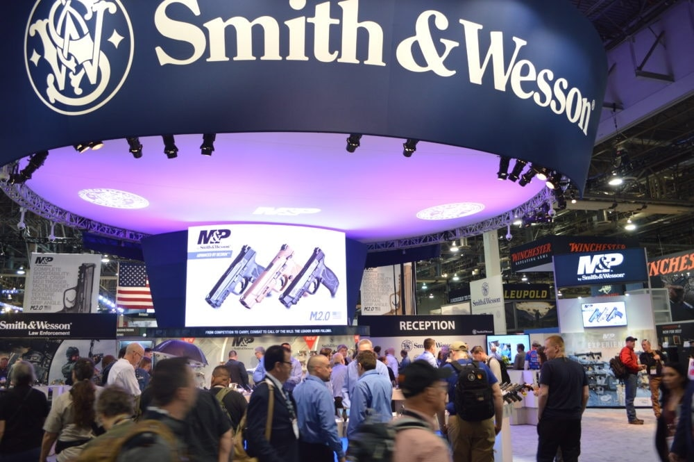 Smith & Wesson was one of the busiest booths on the SHOT Show floor, as they debuted not only the 2.0, but several other handguns as well. (Photo: Kristin Alberts)