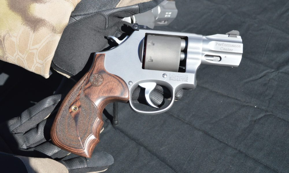 The 986 revolver is chambered in 9mm and ships with half-moon clips. (Photo: Kristin Alberts)