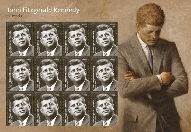 JFK stamp sheet