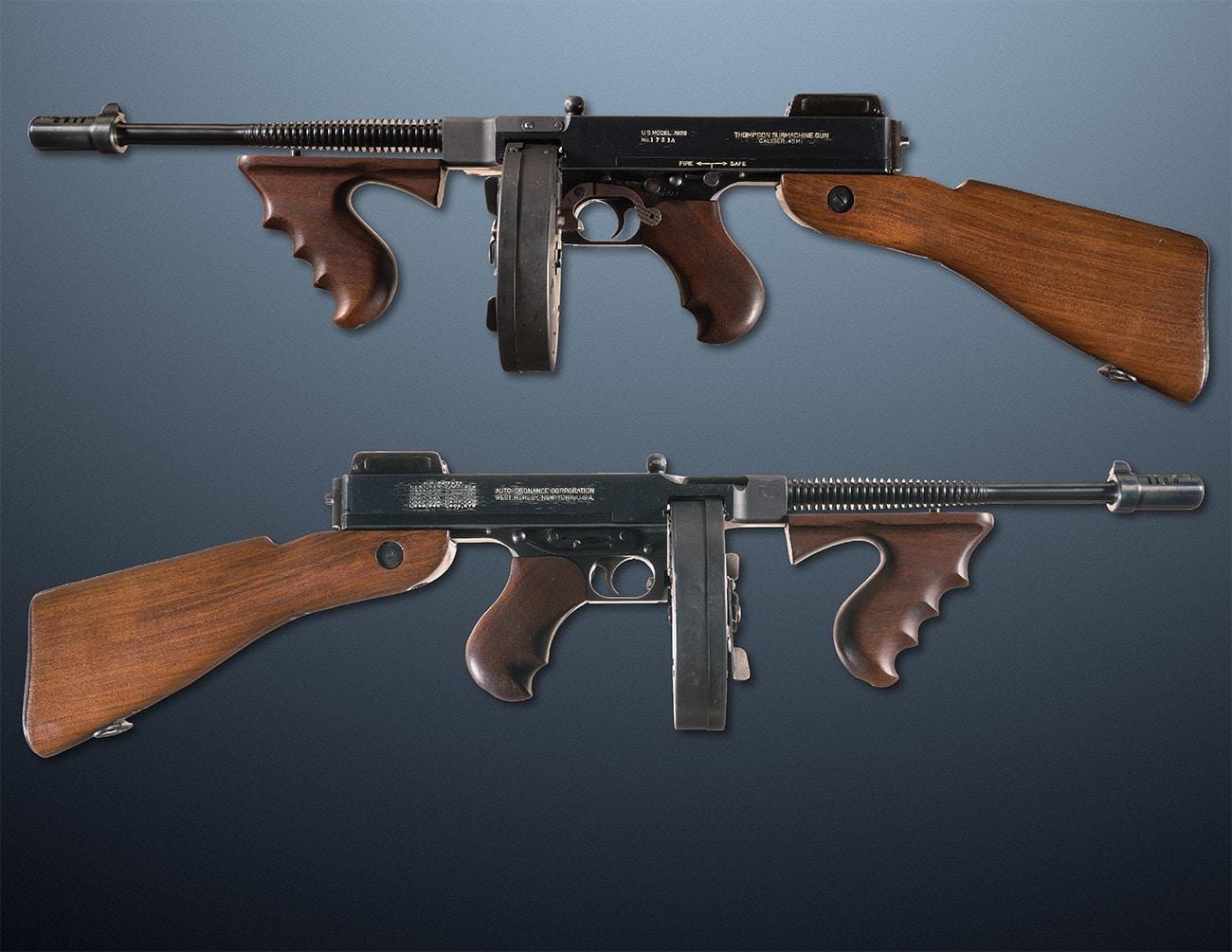 1928 us model navy thompson tommy gun smg ria