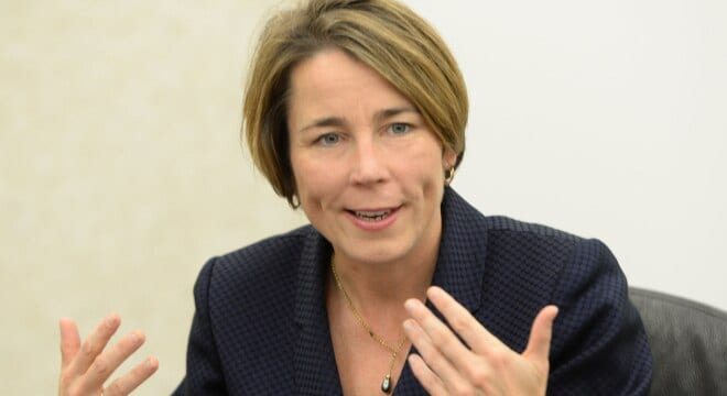 Attorney General Maura Healey is facing a fresh Second Amendment-based federal lawsuit, this one over Massachusetts' 31-year old ban on electrical weapons. (Photo: Mark Murray/The Republican)