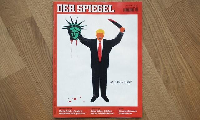 Trump german magazine cover