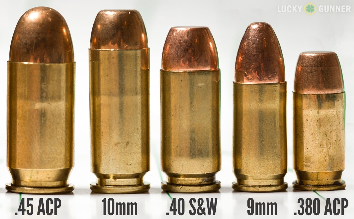 The 10mm round was eventually flattened and shortened to become the .40 S&W. (Photo: Lucky Gunner)