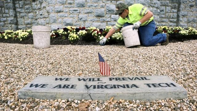 virginia tech memorial marker