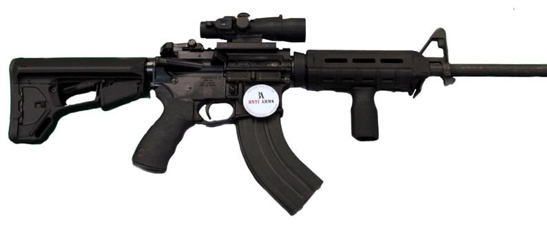 The Warrior series rifle blends the AR and AK platforms to offer a versatile long gun with oomph. (Photo: BNTI Arms)