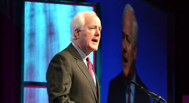 U.S. Sen. Cornyn, R-Tex., is set to again introduce a concealed carry reciprocity bill to the Senate. (Photo: Sen. Cornyn's office)
