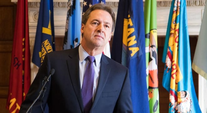 Gov. Steve Bullock this week rejected a constitutional carry bill for the third time since 2013 as well as one allowing guns in post offices in Montana. (Photo: Freddy Monares/UM Legislative News Service)