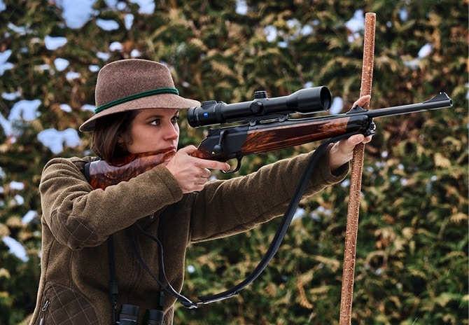 Blaser designed the F16 and R8, pictured above, to better fit women's smaller frames. (Photo: Blaser USA)