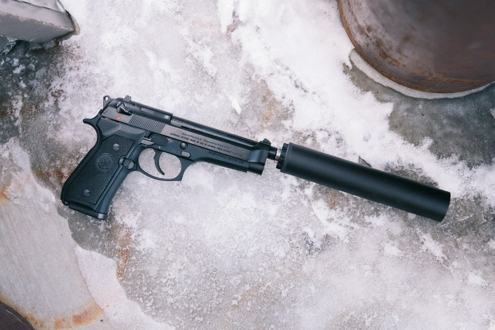 SilencerCo now offers threaded barrels for the Beretta 92FS/M9 pistols. (Photo: SilencerCo)