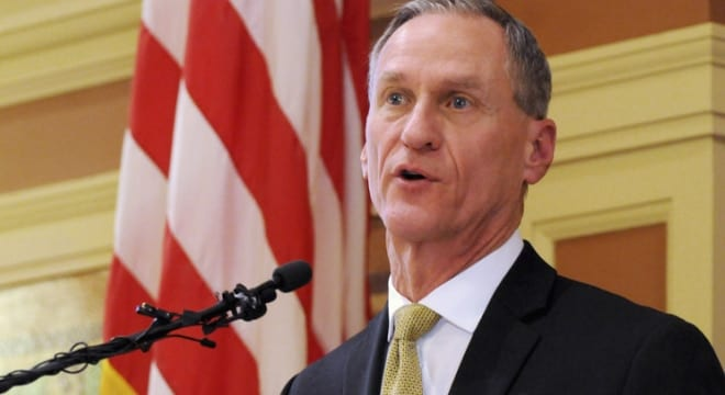 South Dakota Gov. Dennis Daugaard vetoed a bill in 2012 that would have allowed for concealed carry without a permit and is promising to do the same if given the opportunity. (Photo: James Nord/AP)