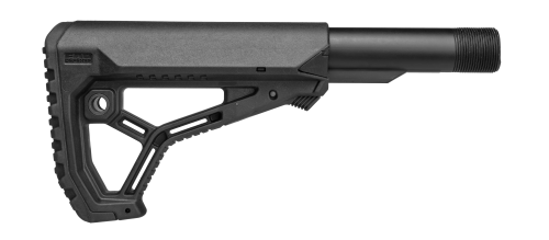 The buttstock offers rifle shooters an interchangeable tube adapter for a tighter fit on buffer tubes. (Photo: Mako Group)