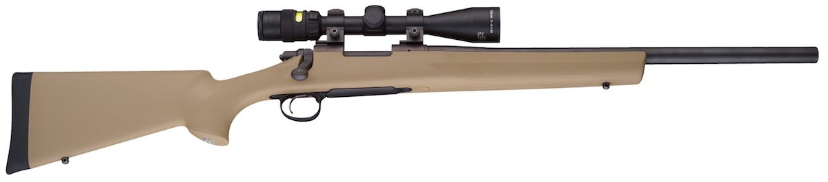 Flat Dark Earth joins Hogue's color options in their OverMolded rifle stock series. (Photo: Hogue)
