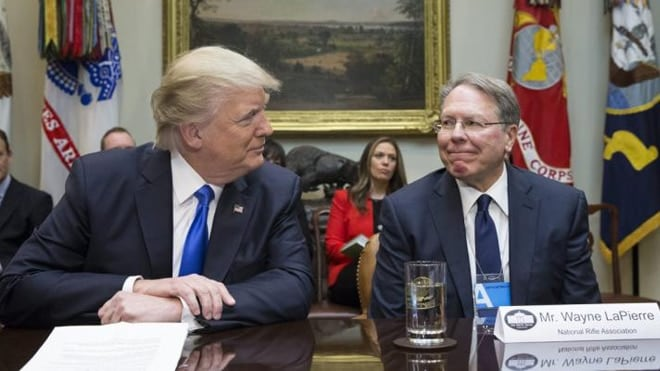 President Trump met with Wayne LaPierre after nominating a new Supreme Court Justice.