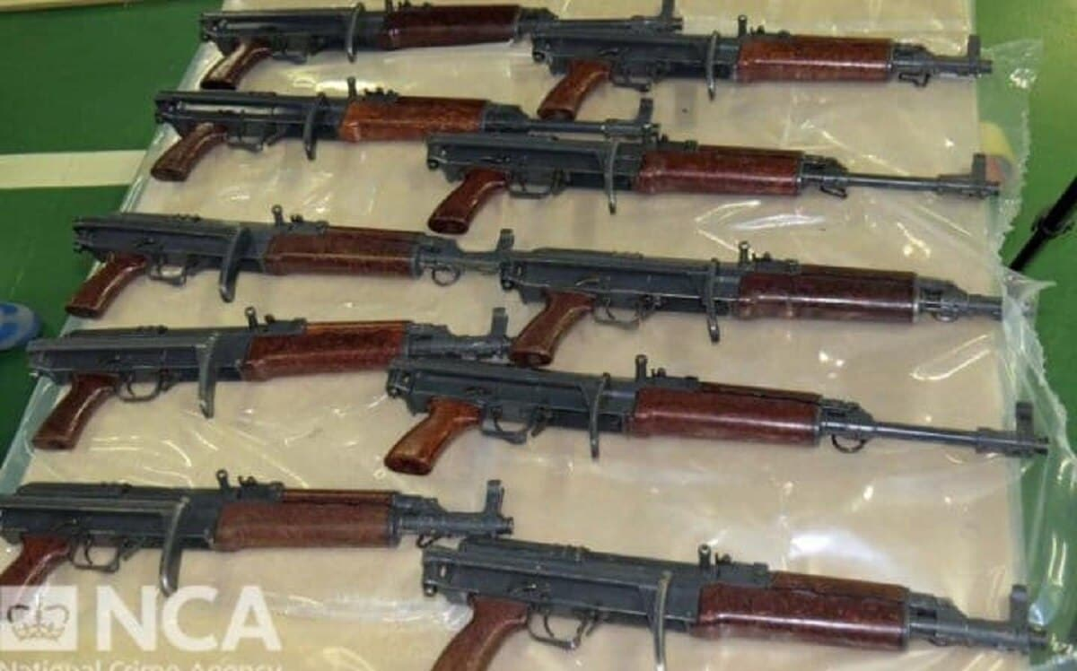 Hundreds of guns were seized during an operation in the UK (Photo: NCA)