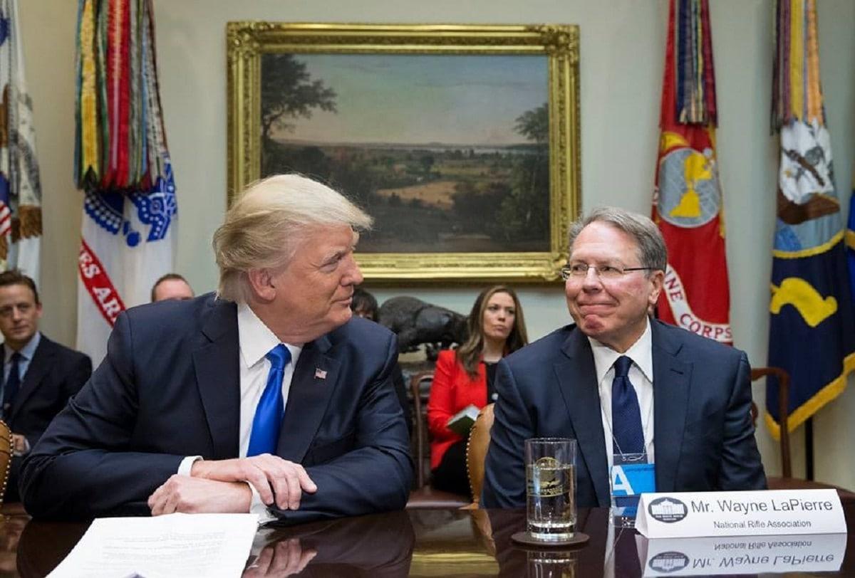 President Donald Trump and NRA Executive Vice President Wayne LaPierre (Photo: Facebook)