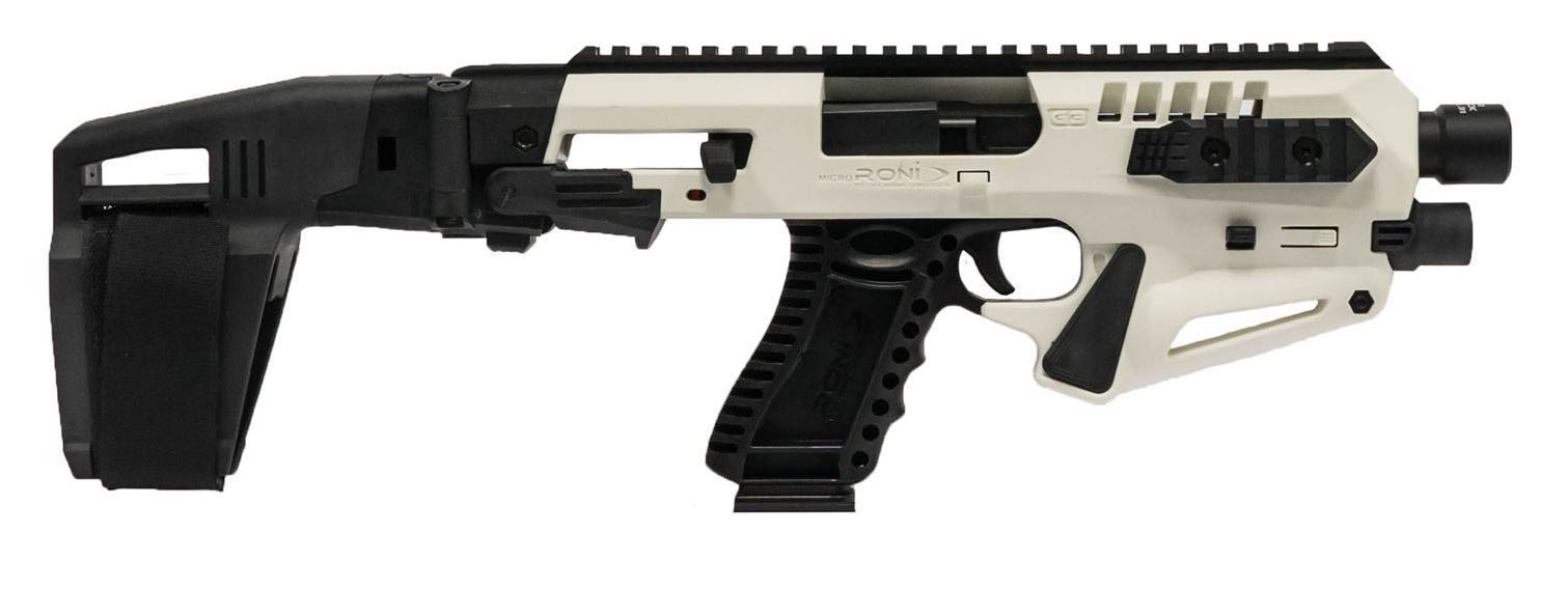 The RONI converts certain Glock models into pistol carbines without disassembly of the pistol. (Photo: CAA)