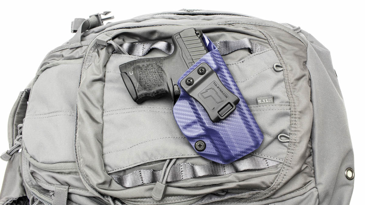 The Profile AIWB, now available for the Walther PPS M2, comes in a variety of color options. Backpack not included. (Photo: Tulster)