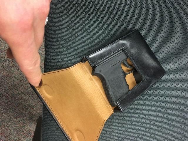 gun in square holster