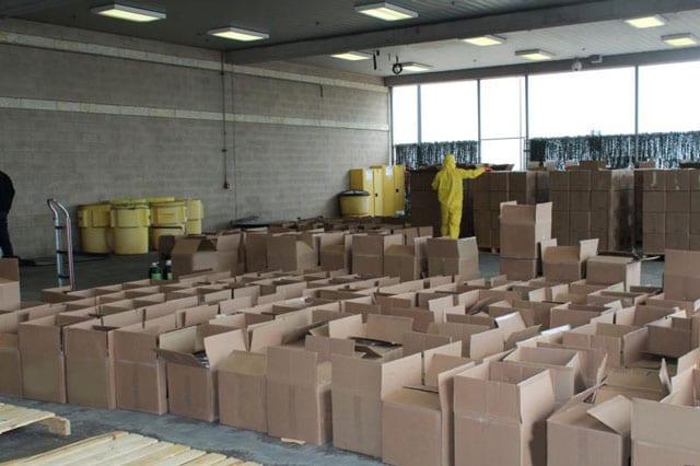 meth in cardboard boxes