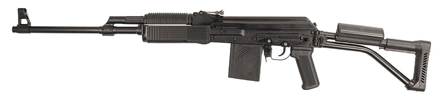 The new Molot ditches the traditional 7.62 round in favor of the power packing .308 WIN. (Photo: FIME Group)