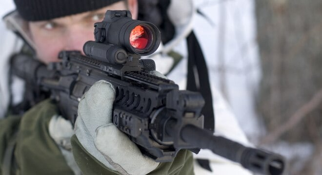 Aimpoint's current CompM4s sight type classified by the Army as the M68 Close Combat Optic (Photo: Aimpoint)