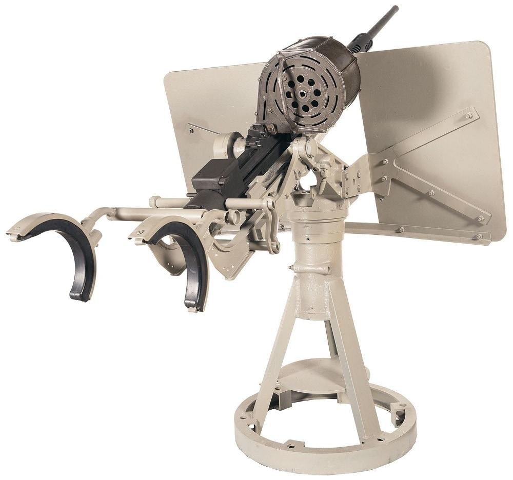 C&R Oerlikon 20 mm MK4 Naval Cannon with Original Deck Mount and Gun Cradle 2