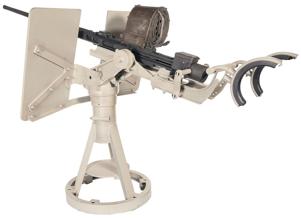 C&R Oerlikon 20 mm MK4 Naval Cannon with Original Deck Mount and Gun Cradle 3