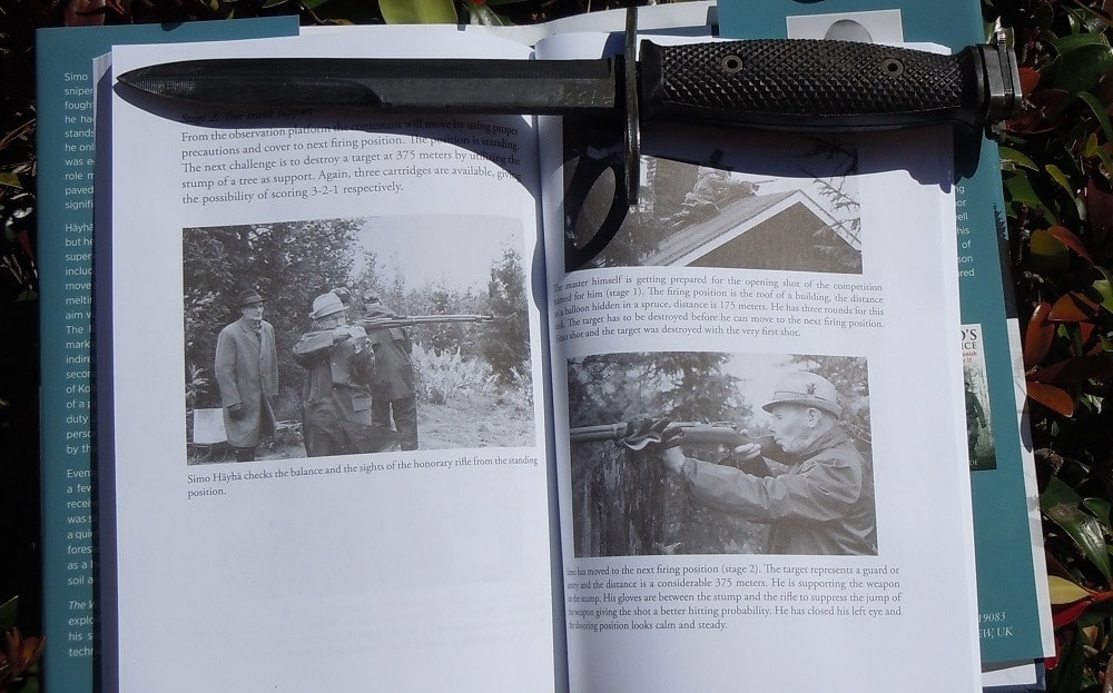 The work includes many rare images of the Finnish sniper throughout his life and includes post-war visits to the actual 1939-40 battlefields he served on