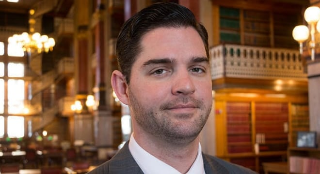 State Rep. Matt Windschitl saw a multi-faceted gun rights expansion he sponsored move to an easy win in the Iowa House this week. (Photo: John Pemble/Iowa Public Radio)