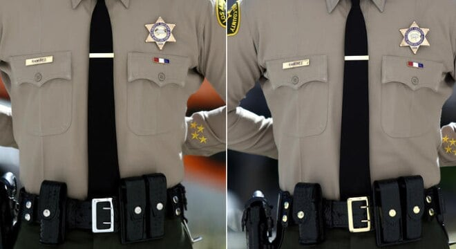 The difference between the new buckles and the old buckles is astounding. (Photo: LEO Affairs)