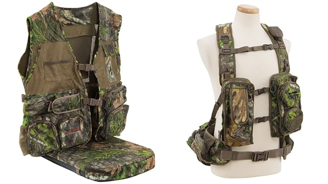 The Super Elite, left, and Long Spur, right, hunting vests are two new designs from Alps OutdoorZ. (Photo: Alps OutdoorZ)
