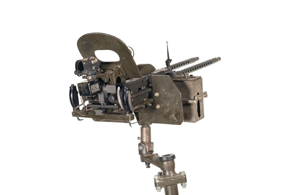 Navy AN-M2 .30 Cal Navy MK II Mod 3 Aircraft Mount MK 9 Mod 1 Illuminated Electronic Gun Sight RIA 3