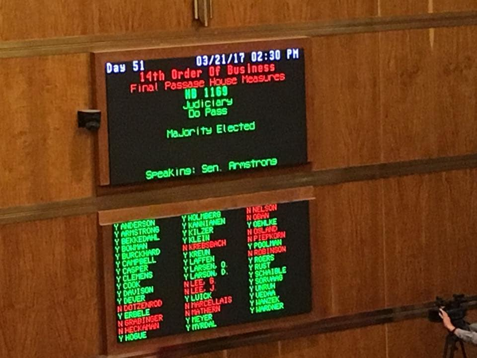 The bill passed the House last month 83-9 and the Senate this week 34-13. (Photo: Rep. Becker)