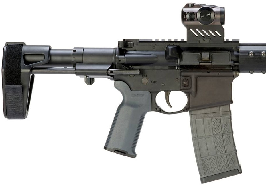 The SBPDW outfitted on an AR-15 receiver. (Photo: SB Tactical)