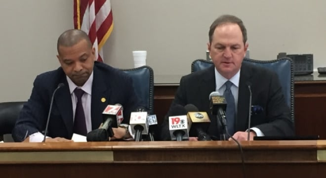 South Carolina state Sen. Marlon Kimpson, D-Charleston, along with Sen. Greg Gregory, R-Lancaster, are backing a bipartisan effort to prevent a similar situation that allowed the Charleston shooter to obtain a gun. (Photo: WSAV)