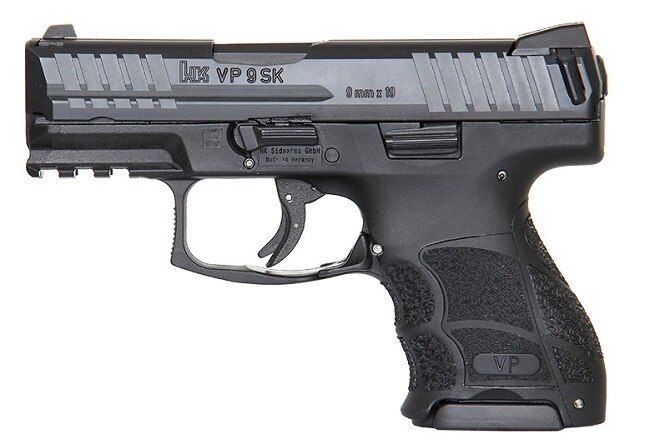 The HK VP9SK with flush-fit 10-round magazine and standard sights (Photos HK)