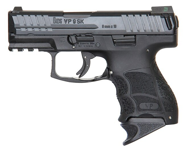 The VP9SK with an extended mag and optional night sights
