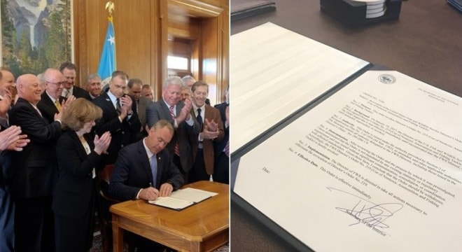 Newly confirmed Secretary of the Interior Ryan Zinke signed orders Thursday halting a planned ban on lead ammunition and expanding access to public lands. (Photo: DOI)