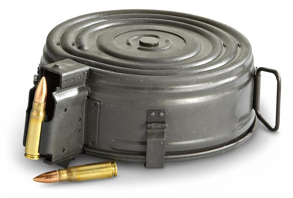 An AK-47 drum magazine, preferred by the Young Mob gang in Tennessee (Photo: Slick Guns)